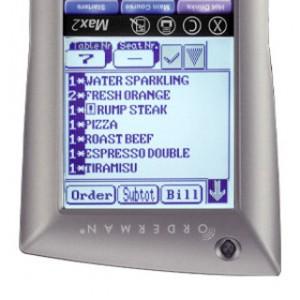 orderman max 2 pantalla giratoria
